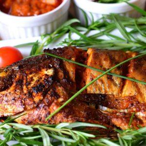 BBQ Croaker fish
