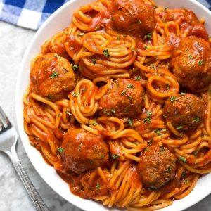 Meatballs Noodles